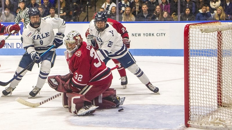 Yale Pours on the Shots but Can't Solve Hot Goalie